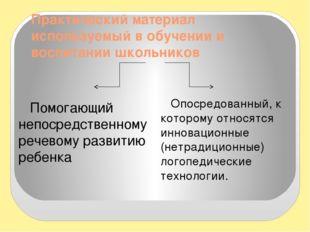 Практический материал используемый в обучении и воспитании школьников Помогаю