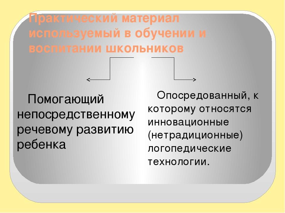 Практический материал используемый в обучении и воспитании школьников Помогаю...