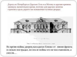 Дорога из Петербурга в Царское Село и в Москву в царские времена занимала зна