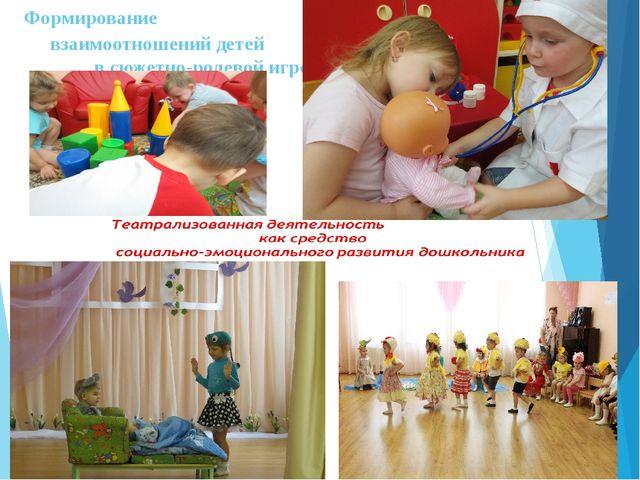 Формирование взаимоотношений детей в сюжетно-ролевой игре»