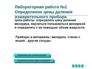 * Лабораторная работа №1 Определение цены деления измерительного прибора Цель
