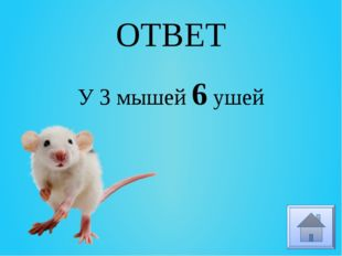 ОТВЕТ У 3 мышей 6 ушей