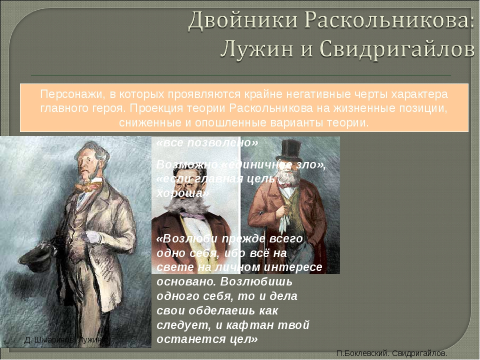 comparison of raskolnikov and svidrigailov in crime and punishment Comparison of raskolnikov and svidrigailov in crime and punishment in his book crime and punishment, dostoevsky explores the paths of two men, raskolnikov and svidrigailov these two men encompass many similar problems and obstacles throughout their lives.