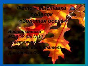 Фото – выставка поделок «Золотая осень» Воспитанники МАДОУ д/с №11 «Светлячо