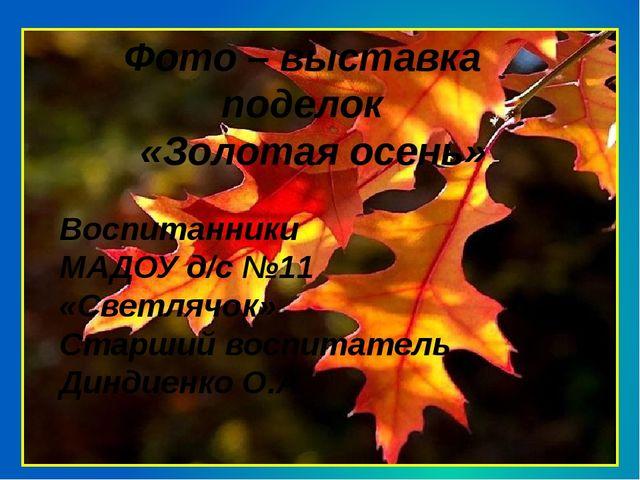 Фото – выставка поделок «Золотая осень» Воспитанники МАДОУ д/с №11 «Светлячо...