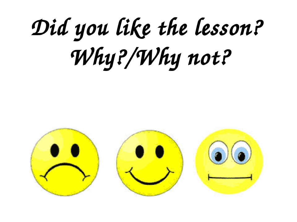 Did you like the lesson? Why?/Why not?