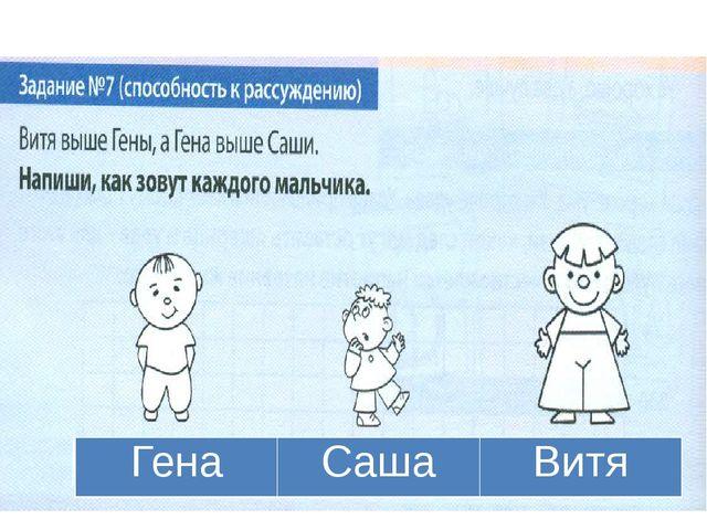 Гена Саша Витя