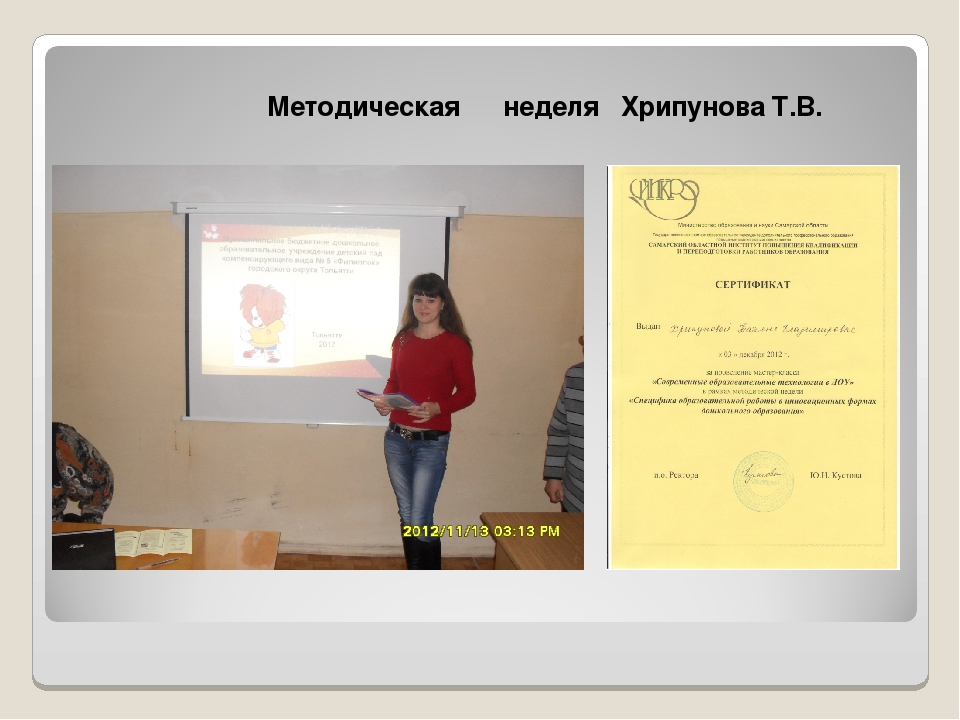Методическая неделя Хрипунова Т.В.