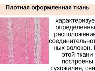 Плотная оформленная ткань характеризуется определенным расположением соедини