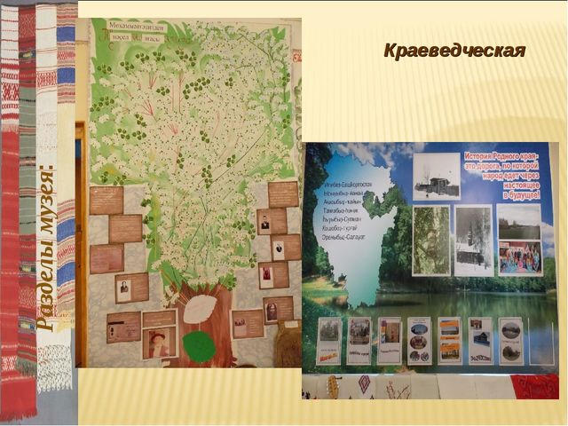 Краеведческая Разделы музея: