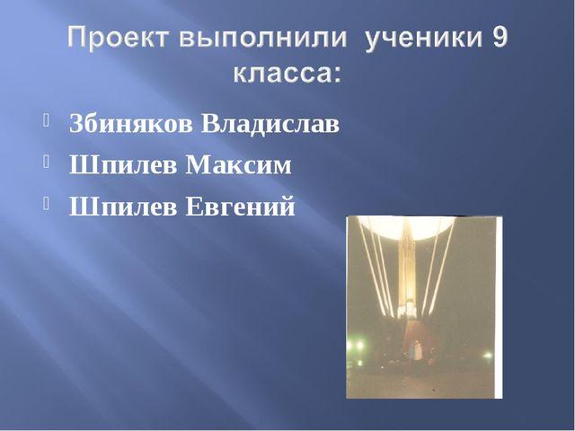 Збиняков Владислав Шпилев Максим Шпилев Евгений