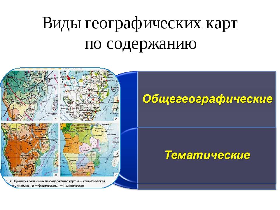 Виды географических карт по содержанию
