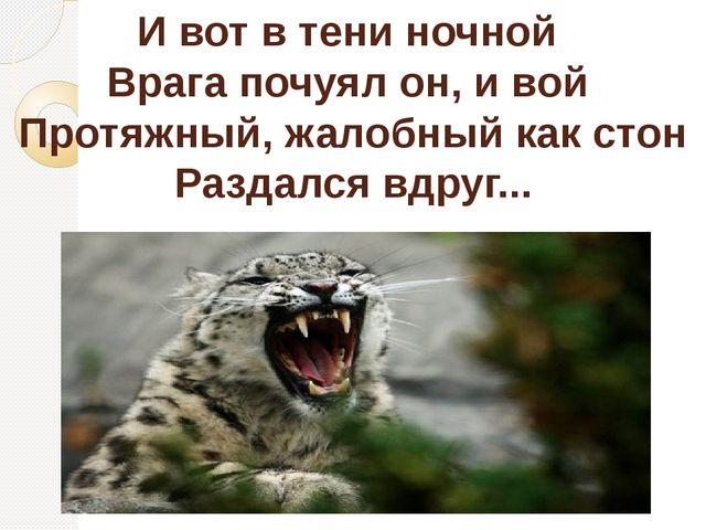 И вот в тени ночной Врага почуял он, и вой Протяжный, жалобный как стон Разда...