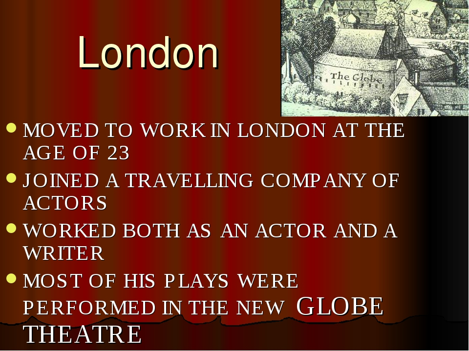 London MOVED TO WORK IN LONDON AT THE AGE OF 23 JOINED A TRAVELLING COMPANY O...