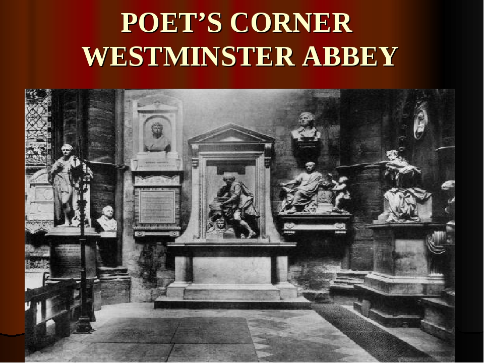 POET'S CORNER WESTMINSTER ABBEY