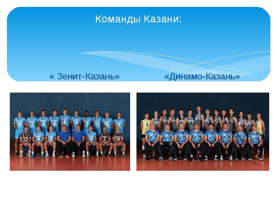 Команды Казани: « Зенит-Казань» «Динамо-Казань»