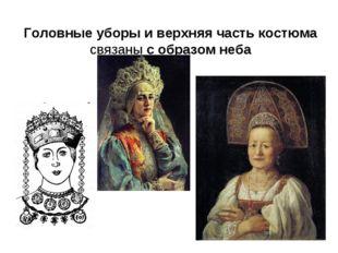 Головные уборы и верхняя часть костюма связаны с образом неба