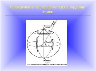 Определение географических координат точки