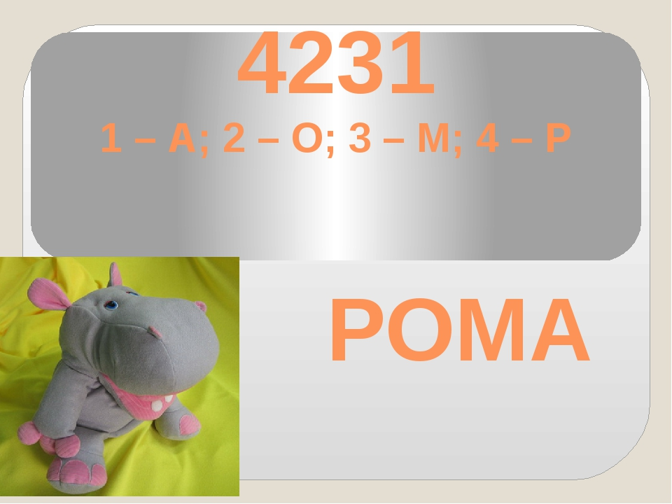 4231 1 – А; 2 – О; 3 – М; 4 – Р РОМА