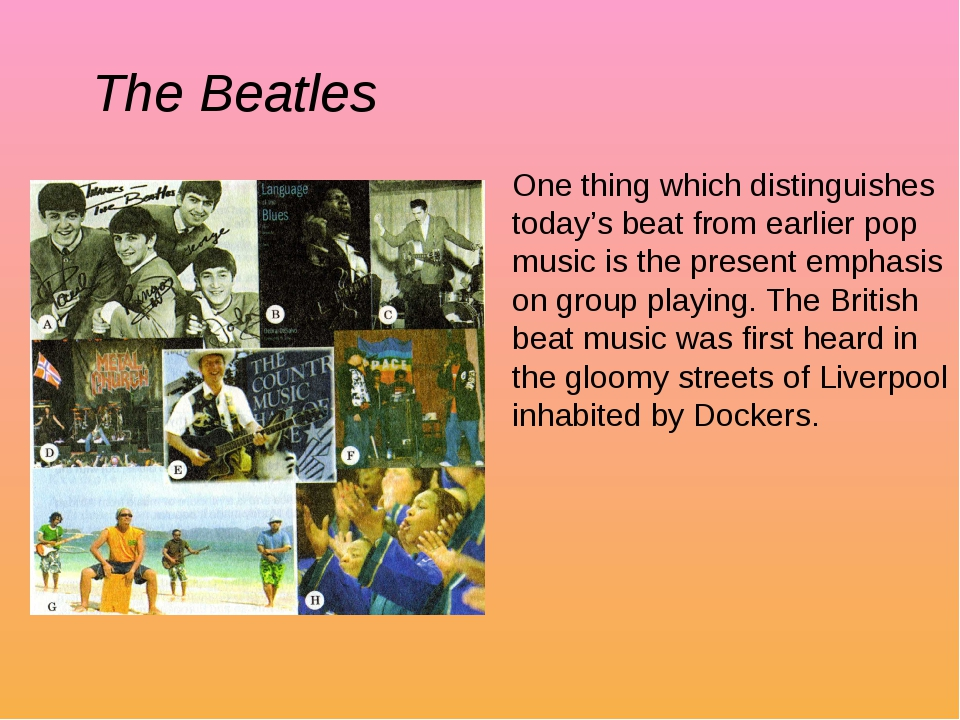 One thing which distinguishes today's beat from earlier pop music is the pres...