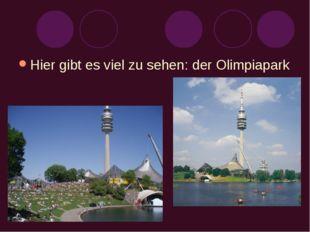 Hier gibt es viel zu sehen: der Olimpiapark