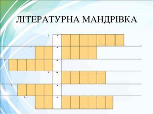 ЛІТЕРАТУРНА МАНДРІВКА 1к 2л 3и 4м 5