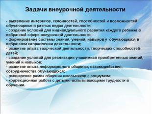 - выявление интересов, склонностей, способностей и возможностей обучающихся в