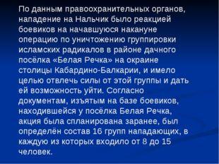 По данным правоохранительных органов, нападение на Нальчик было реакцией боев