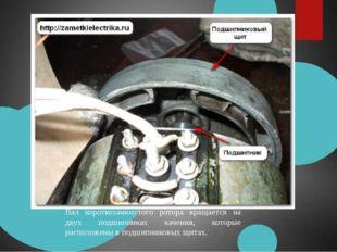 Вал короткозамкнутого ротора вращается на двух подшипниках качения, которые р