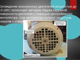 Охлаждение асинхронных двигателей мощностью до 15 (кВт) происходит методом об