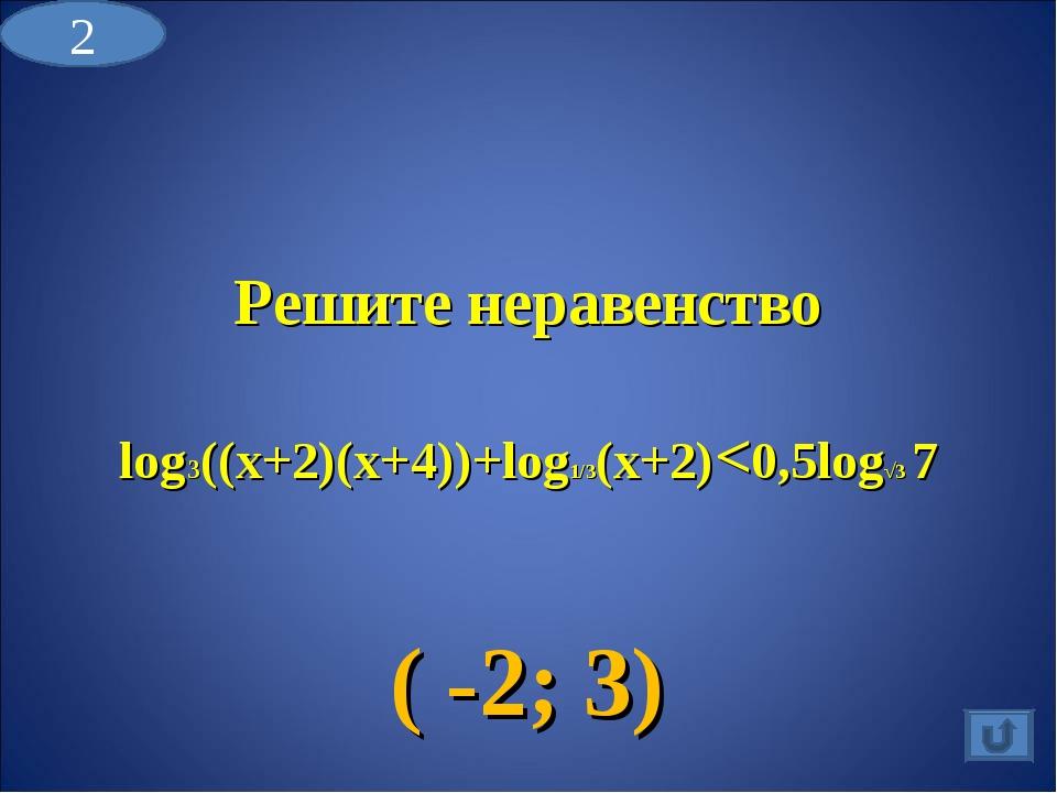 Решите неравенство log3((x+2)(x+4))+log1/3(x+2)