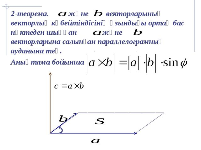 Ұзындығы бірге тең векторды бірлік вектор немесе орт дейміз. i j k x y z M1...