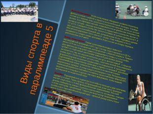 Виды спорта в паралимпеаде 5 Регби колясочников. Регби колясочников объединяе