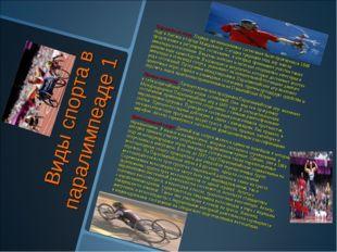Виды спорта в паралимпеаде 1 Стрельба из лука. Первые организованные состязан