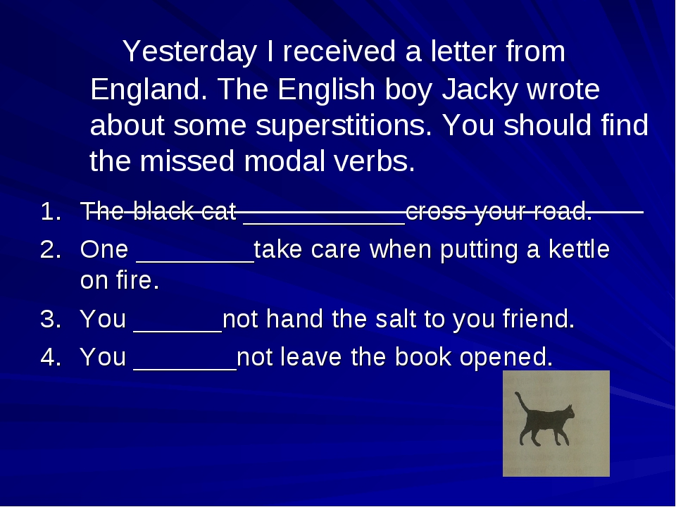 Yesterday I received a letter from England. The English boy Jacky wrote abou...