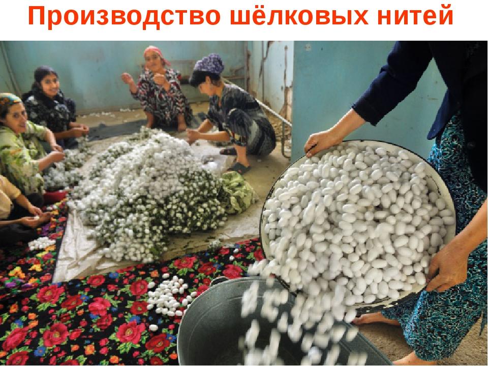 Производство шёлковых нитей
