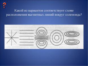 Какой из вариантов соответствует схеме расположения магнитных линий вокруг с