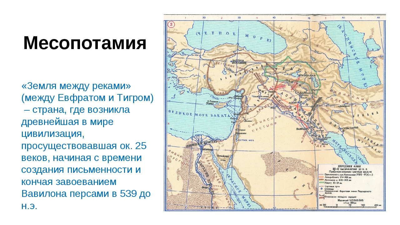 Месопотамия «Земля между реками» (между Евфратом и Тигром) – страна, где возн...