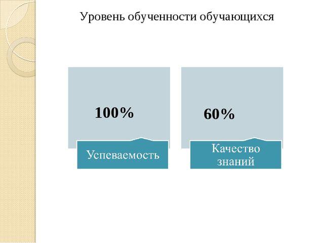 Уровень обученности обучающихся 100% 60%