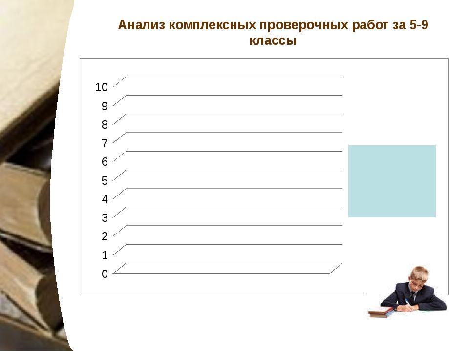Анализ комплексных проверочных работ за 5-9 классы