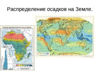 Распределение осадков на Земле.