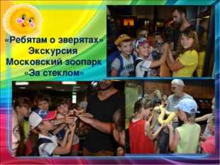 «Ребятам о зверятах» Экскурсия Московский зоопарк «За стеклом»