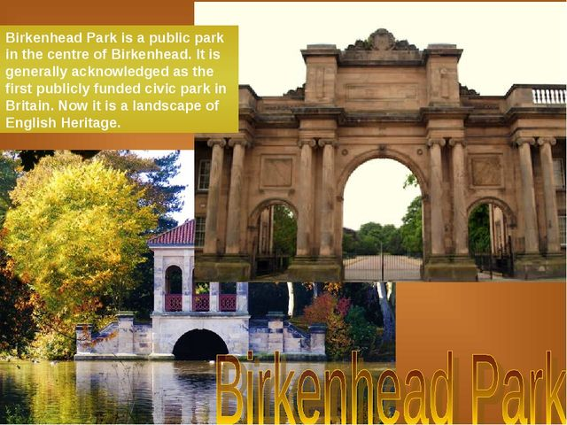 Birkenhead Park is a public park in the centre of Birkenhead. It is generally...