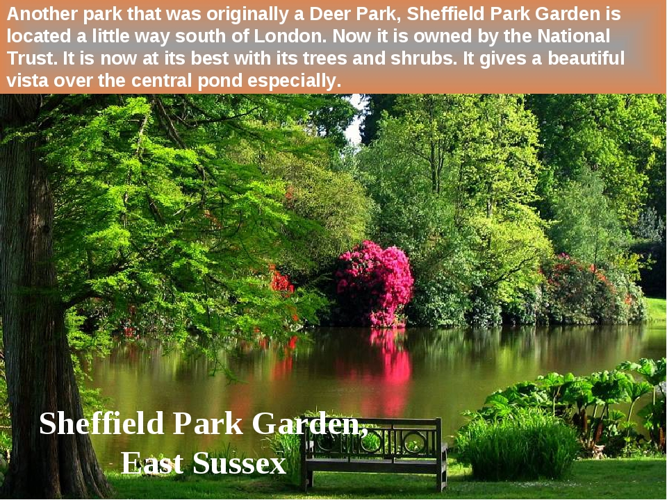 Another park that was originally a Deer Park, Sheffield Park Garden is locate...