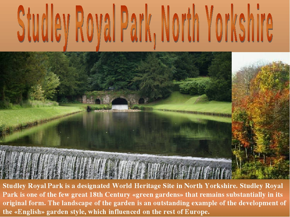 Studley Royal Park is a designated World Heritage Site in North Yorkshire. St...