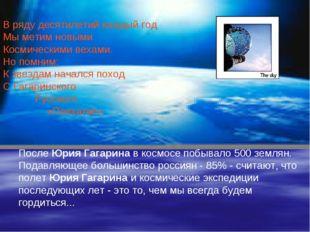 После Юрия Гагарина в космосе побывало 500 землян. Подавляющее большинство ро