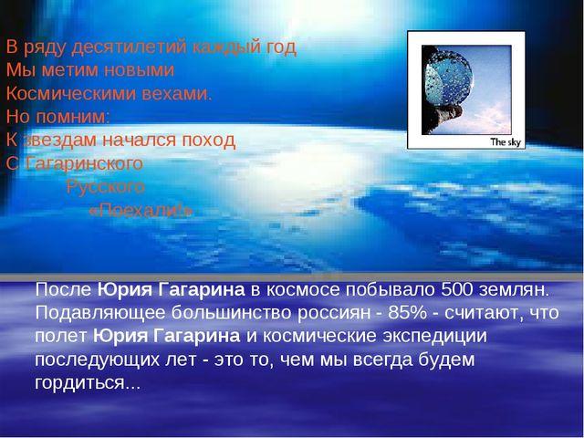 После Юрия Гагарина в космосе побывало 500 землян. Подавляющее большинство ро...
