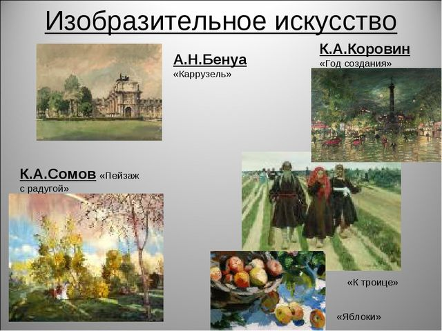 Изобразительное искусство К.А.Сомов «Пейзаж с радугой» А.Н.Бенуа «Каррузель»...