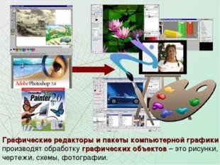 Графические редакторы и пакеты компьютерной графики производят обработку граф