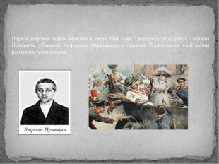 Первая мировая война началась в июле 1914 года с выстрела террориста Гаврилы